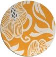 rug #525989 | round light-orange natural rug