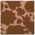 rug #528249 | square mid-brown rug