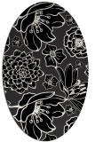 rug #528461 | oval black natural rug