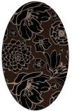 rug #528469 | oval beige natural rug
