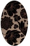 rug #528473 | oval black rug