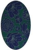 rug #528489 | oval blue rug