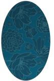 rug #528505   oval blue-green natural rug