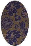 rug #528565 | oval beige natural rug