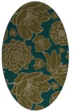 rug #528577 | oval mid-brown natural rug
