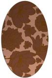 rug #528601 | oval brown rug