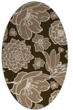 rug #528609 | oval mid-brown natural rug