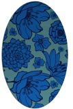 rug #528625   oval blue rug