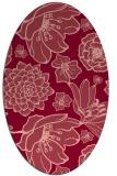 rug #528673 | oval pink natural rug