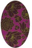rug #528685   oval purple natural rug