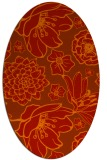 rug #528701 | oval orange natural rug