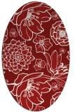 rug #528705 | oval red natural rug