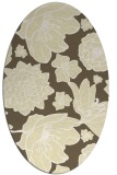 rug #528749 | oval yellow natural rug