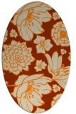 rug #528773 | oval beige natural rug
