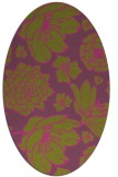 rug #528785 | oval light-green rug