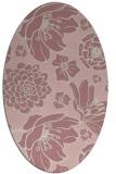 rug #528797 | oval pink natural rug