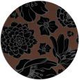 rug #529169 | round black natural rug