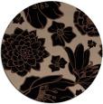 rug #529177 | round brown rug