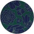 rug #529193 | round blue-green natural rug