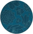 rug #529209 | round blue-green natural rug