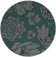 rug #529289 | round blue-green rug