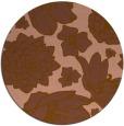 rug #529305 | round brown rug