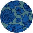 rug #529329 | round blue natural rug