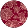 rug #529377 | round pink rug