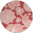 rug #529381 | round pink natural rug