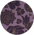 rug #529393 | round purple natural rug