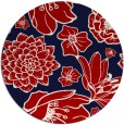 rug #529401 | round red rug