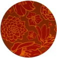 rug #529405 | round red natural rug