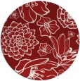 rug #529409 | round red natural rug