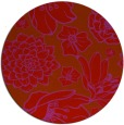rug #529413 | round pink natural rug
