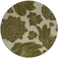 rug #529493 | round light-green rug