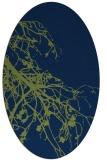 rug #530253 | oval blue rug
