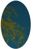 rug #530277 | oval blue-green rug