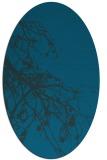 rug #530297 | oval blue-green natural rug