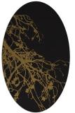 rug #530333 | oval mid-brown rug