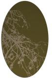 rug #530337 | oval brown rug