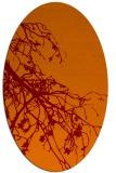rug #530405 | oval orange natural rug