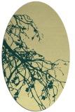 rug #530421 | oval blue-green natural rug