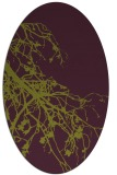 rug #530445 | oval purple natural rug