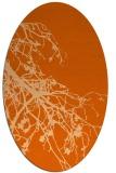 rug #530477 | oval red-orange popular rug