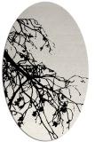 rug #530489 | oval black natural rug