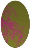 rug #530545 | oval pink natural rug