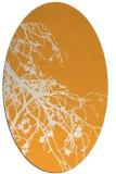 rug #530565   oval light-orange natural rug