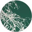 rug #531053 | round blue-green natural rug