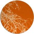 rug #531181 | round red-orange rug