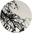 rug #531193 | round black natural rug